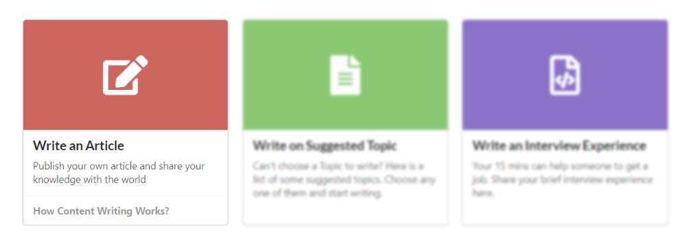 Write an article on GeeksforGeeks