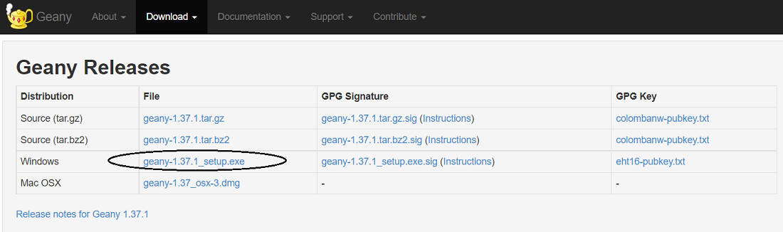 Geany Releases