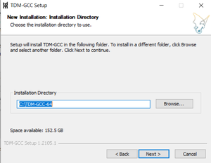 Select install location