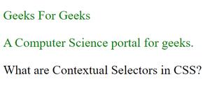 Conceptual Selector in CSS