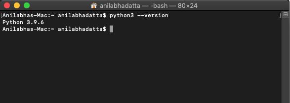 checking python version