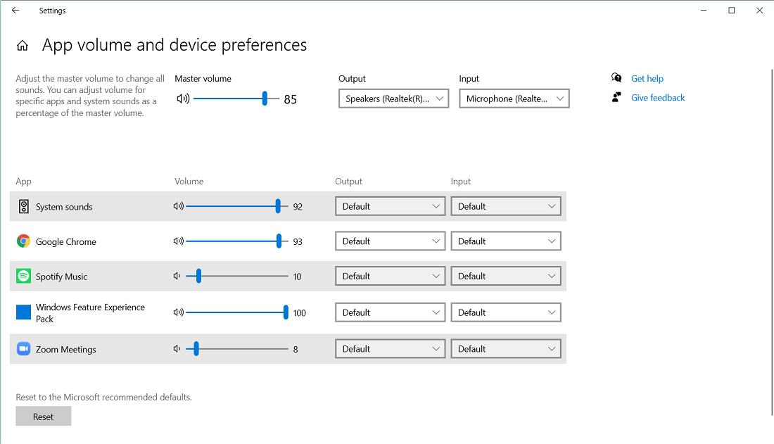 Adjust Sound Volume for Specific Apps