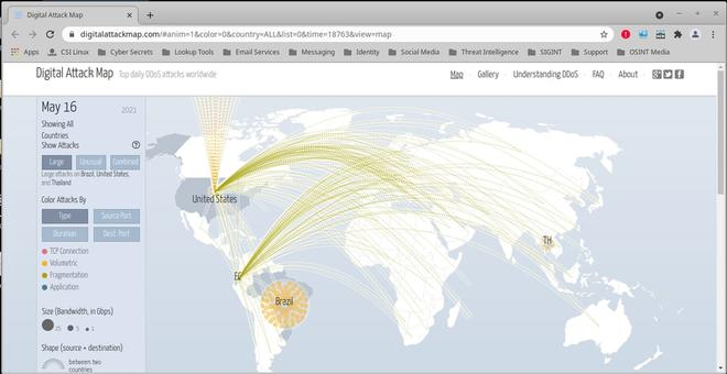 Live Cyber Threat Map