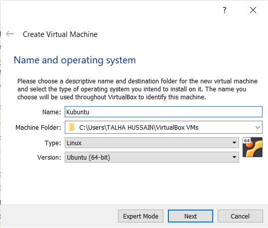 Giving New virtual machine Name & Version