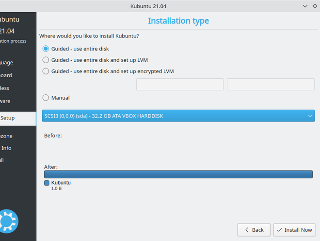 Select use enter disk