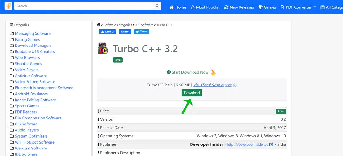 Download Turbo C++