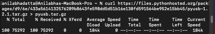 downloading the source package for glob in macos