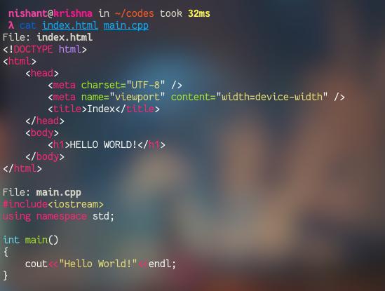 Ccat – Colorize Cat Command Output