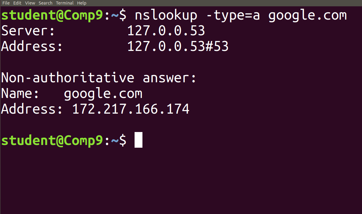nslookup command in Linux with Examples - GeeksforGeeks