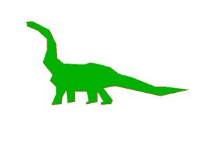 scanfilled dinosaur