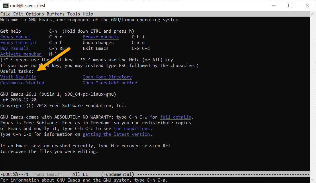 emacs command in Linux with examples - GeeksforGeeks