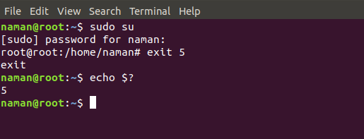 exit command in Linux with Examples - GeeksforGeeks