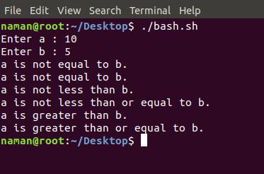 Basic Operators in Shell Scripting - GeeksforGeeks