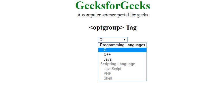optgroup disable option
