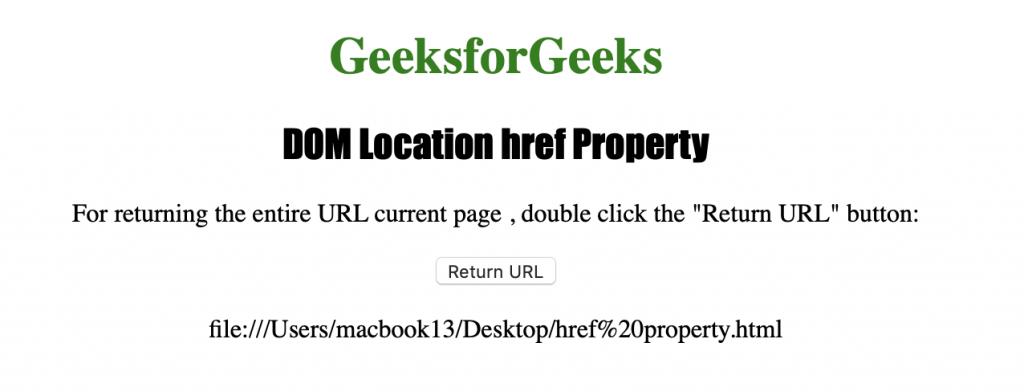 HTML | DOM Location href Property - GeeksforGeeks