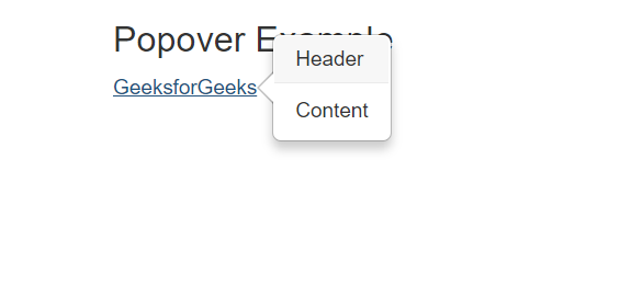 Popovers In Bootstrap With Examples Geeksforgeeks