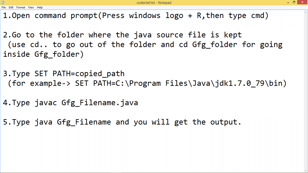 How to set Temporary and Permanent Paths in Java - GeeksforGeeks