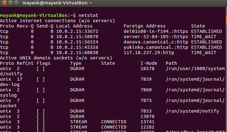 Network configuration and trouble shooting commands in Linux