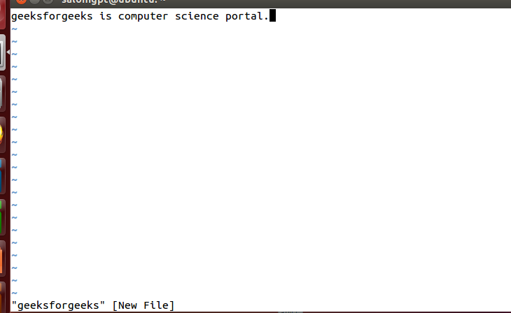 vi Editor in UNIX - GeeksforGeeks