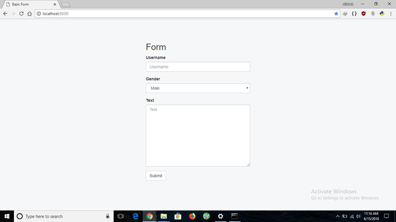 Python | Form validation using django - GeeksforGeeks