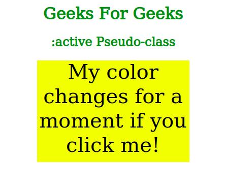 CSS | Pseudo-classes - GeeksforGeeks