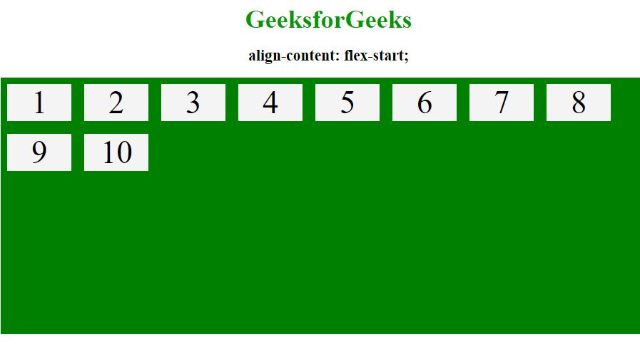 align-content flex-start
