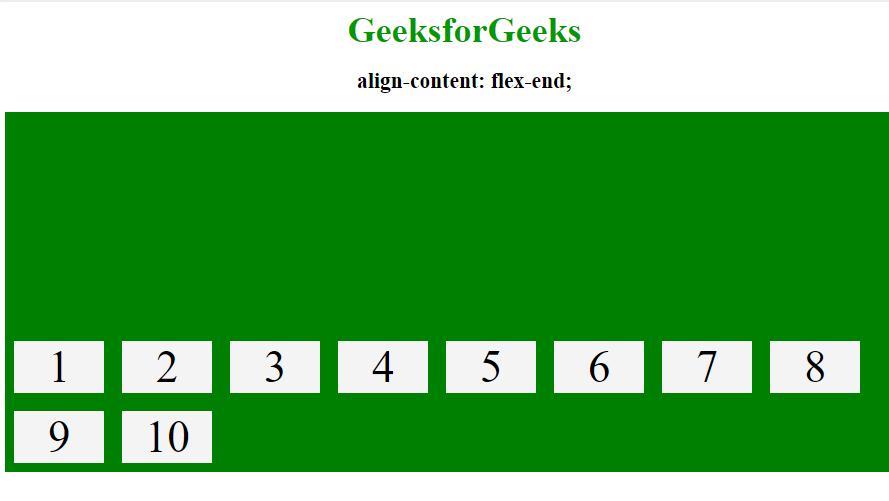 align-content flex-end