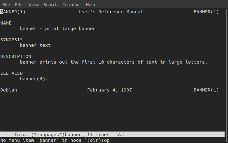 banner command in Linux with examples - GeeksforGeeks