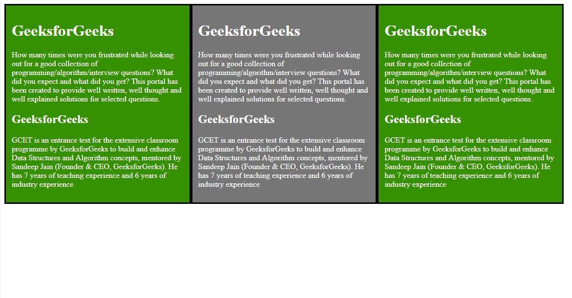 Div Tag | HTML - GeeksforGeeks