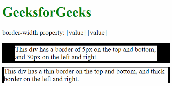 border-width with two values
