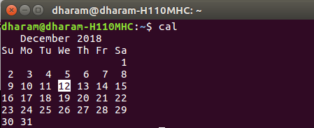 Terminal 5 Calendar.Cal Command In Linux With Examples Geeksforgeeks