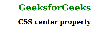 CSS center property