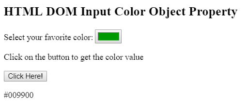 color object