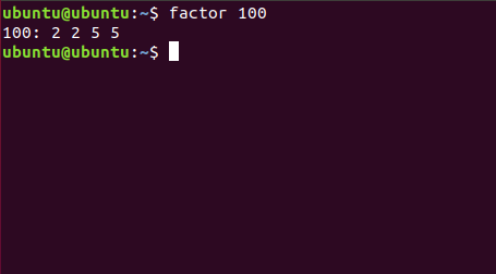 prime factors of 100