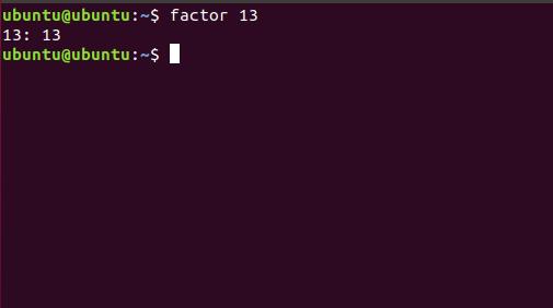 prime factors of 13