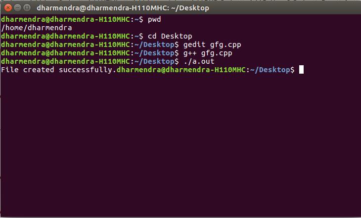 C Program To Create A File Geeksforgeeks