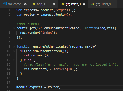 gfgIndexjs routes file