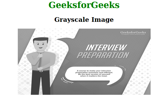 grayscale image