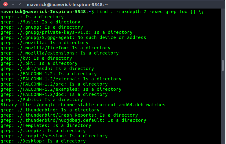mindepth and maxdepth in Linux find() command for limiting search to