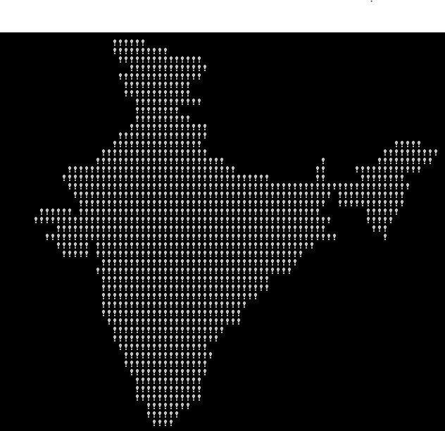 Console printing India's Map