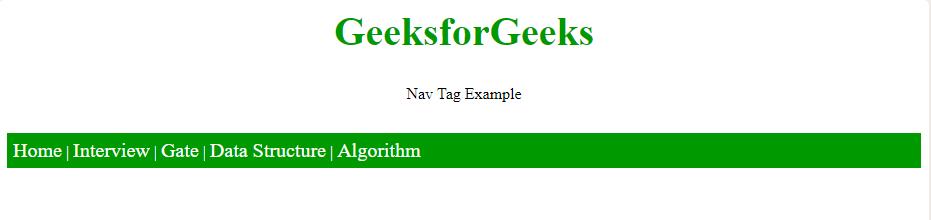 nav tag examples