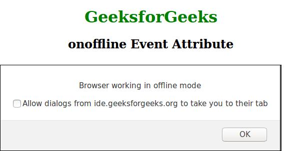 onffline event