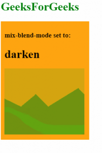 mix-blend-mode: darken