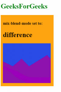 mix-blend-mode: difference