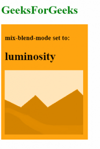 mix-blend-mode: luminosity