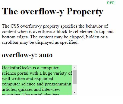 overflow-y: auto