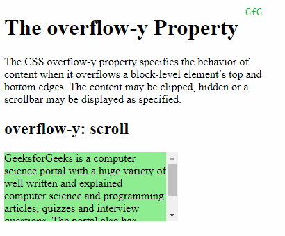 overflow-y: scroll