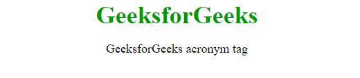 acronym tag