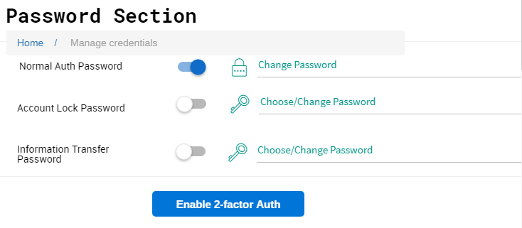 manage password section png
