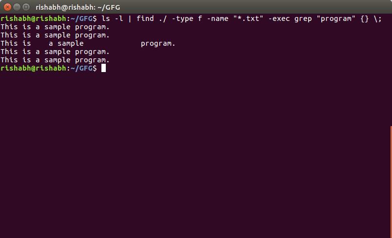 Piping in Unix or Linux - GeeksforGeeks